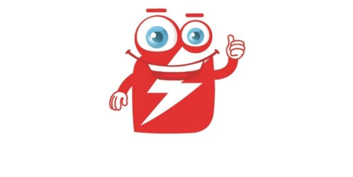 100% logo Lynet maskot
